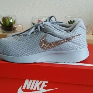 Nike Tanjun Custom Rose Gold Bling